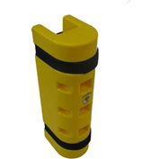 "Rack Sentry® Rack Protector, 3-1/4"" x 3"" Opening, 18""H, Yellow"