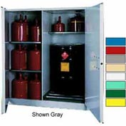 Securall® 115-Gallon, Manual Close, Vertical Flammable Drum Cabinet Blue