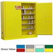 Securall® 24-Gallon Manual Close, Wall-Mounted Flammable Cabinet Yellow