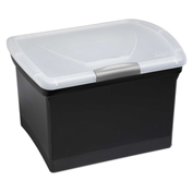 "Sterilite File Storage Box 18789004 - Black/Titanium  18-3/8""L x 14-7/8""W x 12-3/8""H - Pkg Qty 4"