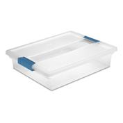 "Sterilite Large Clip Clear Storage Box With Latched Lid 19638606 - 14""L x 11""W x 3-1/4""H - Pkg Qty 6"