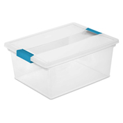 "Sterilite Deep Clip Clear Storage Box With Latched Lid 19658604 - 14""L x 11""W x 6-1/4""H - Pkg Qty 4"