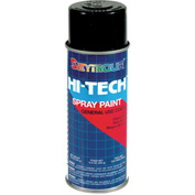 Hi-Tech Enamel 16 Oz. Gloss Black 6 Cans/Case - 16-115