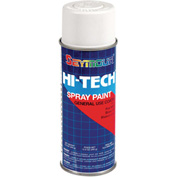 Hi-Tech Enamel 16 Oz. Flat White 6 Cans/Case - 16-134