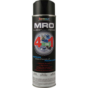 MRO Industrial Enamel 20 Oz. Flat Black 6 Cans/Case - 620-1433