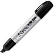 Sharpie® King Size Permanent Marker, Chisel, Black Ink, Dozen