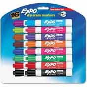 Sanford® Expo Low Odor Dry Erase Marker, Chisel Tip, Assorted Ink, 16/Set