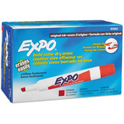 Sanford® Expo Dry Erase Marker, Chisel Tip, Red Ink - Pkg Qty 12