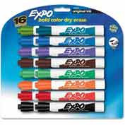 Sanford® Expo Dry Erase Marker, Chisel Tip, Assorted Ink, 16/Set
