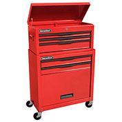 "SPG International C-105BB 24.5"" 5-Drawer Economy Tool Cabinet/Chest Combo, Red"
