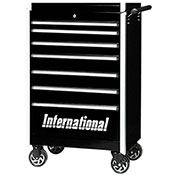 "SPG International PRB-2707BK Professional 27"" 7-Drawer Roller Cabinet W/ Ball Bearing Slides, Black"