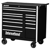 "SPG International PRB-4213BK Professional 42"" 13-Drawer Roller Cabinet W/ Ball Bearing Slides, Black"