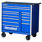 "SPG International PRB-4213BU Professional 42"" 13-Drawer Roller Cabinet W/ Ball Bearing Slides, Blue"