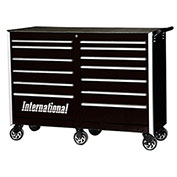 "SPG International PRB-5413BK Professional 54"" 13-Drawer Roller Cabinet W/ Ball Bearing Slides, Black"