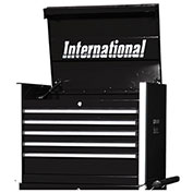 "SPG International PRT-2705BK Professional 27"" 5-Drawer Top Chest W/ Ball Bearing Slides, Black"