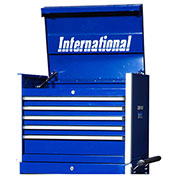 "SPG International PRT-2705BU Professional 27"" 5-Drawer Top Chest W/ Ball Bearing Slides, Blue"