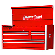 "SPG International PRT-4206RD Professional 42"" 6-Drawer Top Chest W/ Ball Bearing Slides, Red"