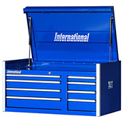 "SPG International PRT-4208BU Professional 42"" 8-Drawer Top Chest W/ Ball Bearing Slides, Blue"