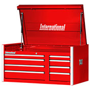 "SPG International PRT-4208RD Professional 42"" 8-Drawer Top Chest W/ Ball Bearing Slides, Red"