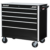 "SPG International SRB-4205BK SHD 42"" 5-Drawer Roller Cabinet W/ Ball Bearing Slides, Black"