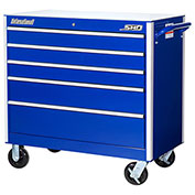 "SPG International SRB-4205BU SHD 42"" 5-Drawer Roller Cabinet W/ Ball Bearing Slides, Blue"