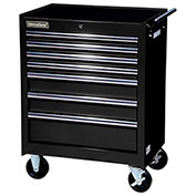 "SPG International VRB-2707BK 27"" 7-Drawer Roller Cabinet W/ Ball Bearing Slides, Black"