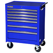 "SPG International VRB-2707BU 27"" 7-Drawer Roller Cabinet W/ Ball Bearing Slides, Blue"
