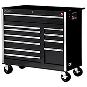 "SPG International VRB-4211BK 42"" 11-Drawer Roller Cabinet W/ Ball Bearing Slides, Black"