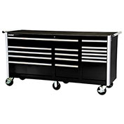 "SPG International VRB-7515BK 75"" 15-Drawer Roller Cabinet W/ Ball Bearing Slides, Black"