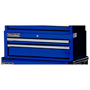 "SPG International VRI-2702BU 27"" 2-Drawer Intermediate Tool Chest, Blue"