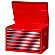"SPG International VRT-2706RD 27"" 6-Drawer Top Chest W/ Ball Bearing Slides, Red"