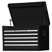 "SPG International VRT-2707BK 27"" 7-Drawer Top Chest W/ Ball Bearing Slides, Black"