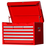 "SPG International VRT-2707RD 27"" 7-Drawer Top Chest W/ Ball Bearing Slides, Red"