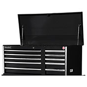 "SPG International VRT-4210BK 42"" 10-Drawer Top Chest W/ Ball Bearing Slides, Black"