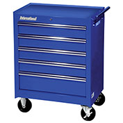 "SPG International WRB-2705LBU 27"" 5-Drawer Roller Cabinet W/ Ball Bearing Slidest, Blue"