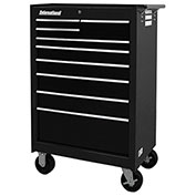 "SPG International WRB-2709BK 27"" 9-Drawer Roller Cabinet W/ Ball Bearing Slides, Black"