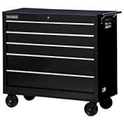 "SPG International WRB-4205BK 42"" 5-Drawer Roller Cabinet W/ Ball Bearing Slides, Black"