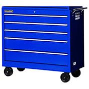 "SPG International WRB-4205BU 42"" 5-Drawer Roller Cabinet W/ Ball Bearing Slides, Blue"