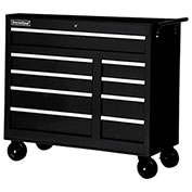 "SPG International WRB-4209BK 42"" 9-Drawer Roller Cabinet W/ Ball Bearing Slides, Black"