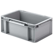 "SSI Schaefer Euro-Fix Solid Container EF3120 - 12"" x 8"" x 5"", Gray"