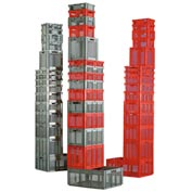 """SSI Schaefer Euro-Fix Mesh Container EF4173 - 16"""" x 12"""" x 7"""", Red"""