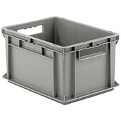 "SSI Schaefer Euro-Fix Solid Container EF4220 - 16"" x 12"" x 9"", Gray - Pkg Qty 12"