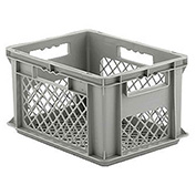 "SSI Schaefer Euro-Fix Mesh Container EF4223 - 16"" x 12"" x 9"", Gray"
