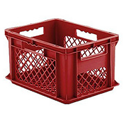 "SSI Schaefer Euro-Fix Mesh Container EF4223 - 16"" x 12"" x 9"", Red"