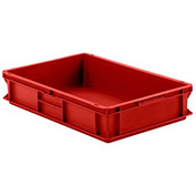 "SSI Schaefer Euro-Fix Solid Container EF6120 - 24"" x 16"" x 5"", Red"