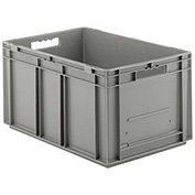 "SSI Schaefer Euro-Fix Solid Container EF6280 - 24"" x 16"" x 11"", Gray"