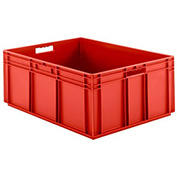 "SSI Schaefer Euro-Fix Solid Container EF8320 - 23-3/4"" x 31-1/2"" x 12-5/8"", Red"