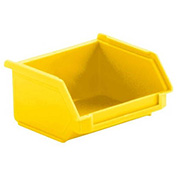 SSI Schaefer  LF040402.DYL1 - 4 x 4 x 2 LF Hopper Front Stacking Bin with Permanent Dividers, Yellow