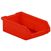 SSI Schaefer  LF060402.0RD1 - 4 x 6 x 2 LF Hopper Front Plastic Stacking Bin, Red,