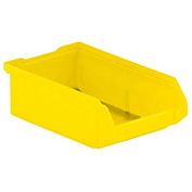 SSI Schaefer  LF060402.0YL1 - 4 x 6 x 2 LF Hopper Front Plastic Stacking Bin, Yellow,